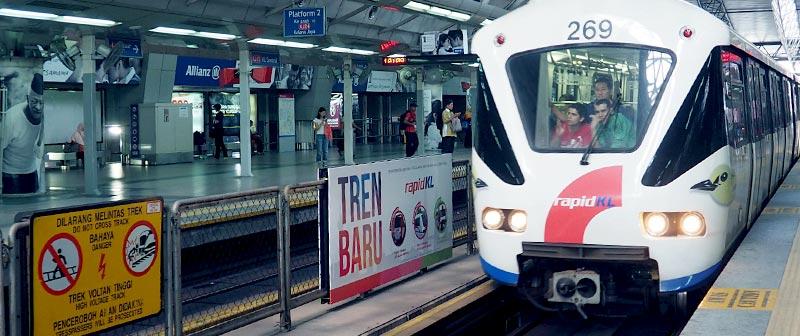 LRT Train in Kuala Lumpur