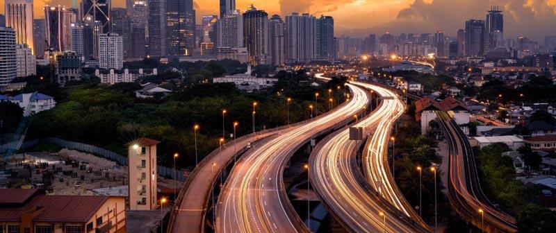 Roads view of Kuala Lumpur