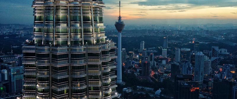 Top view of Kuala Lumpur