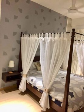 room for rent, master room, taman desa, Master Bed Room with KL city view