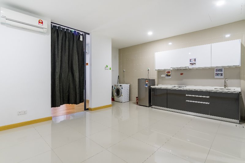 Hall and kitchen view KL Gateway Residence Condominium