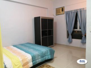 room for rent, medium room, taman tun dr ismail, Middle Room At TTDI, Kuala Lumpur With 100MBPS MRT STATION