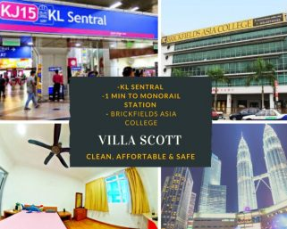 room for rent, single room, jalan tebing, Private Single Room With Personal Entrance !!! Villa Scott , Walking Distance to Monorail Tun Sambanthan ONE Stop Away To KL SENTRAL!!!!!