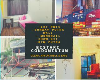 room for rent, medium room, jalan ipoh, Bistari, Sunway Putra Mall, Direct Train LRT 10 Seconds ! Super safe and secure housemate