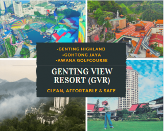 room for rent, master room, genting highlands, Ensuite Master Bedroom with stunning view at Genting View Resort.