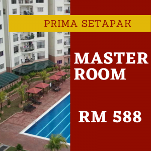 room for rent, master room, setapak, Master Room for rent Prima Setapak Condo (BLOCK A) (TIME High-Speed Internet)
