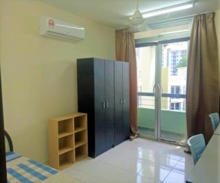 room for rent, single room, cyberia smarthomes roundabout, Fully Furnished Upstairs Single Room with Private Balcony