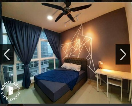 room for rent, studio, cyberjaya, private room attached bathroom and nice view