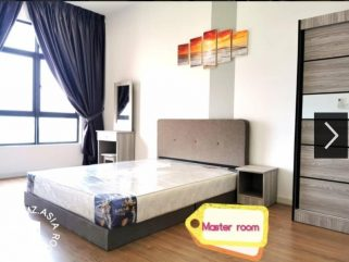 room for rent, master room, sentul, Nearby Public Transport Fully Furnished Room for Rent Sentul