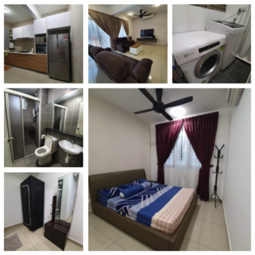 room for rent, medium room, shah alam, Fully furnished Middle Room w/ Private Bathroom @ V Residensi 2, Shah Alam