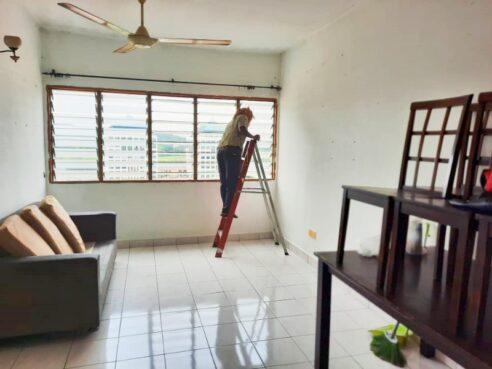 room for rent, full unit, seri kembangan, (Renovated & Furnished) Serdang Perdana Flat @ Seri Kembangan