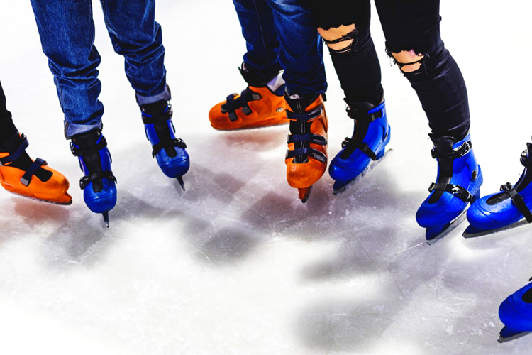 Ice rink with your roommates
